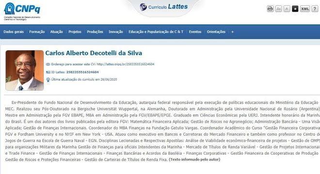 Currículo de Carlos Decotelli, novo ministro da Educação