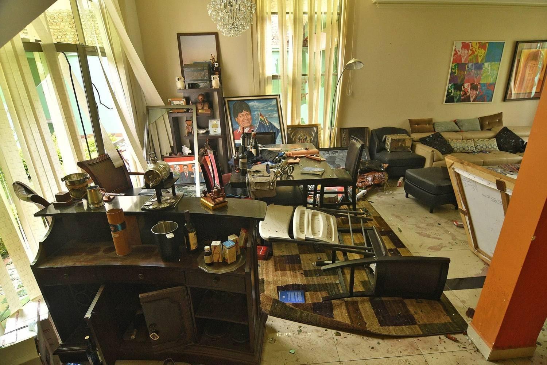 Ainda não se sabe o que foi levado da casa e nem a dimensão dos estragos causados por opositores