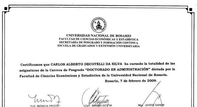 Reprodução do diploma enviado pelo MEC