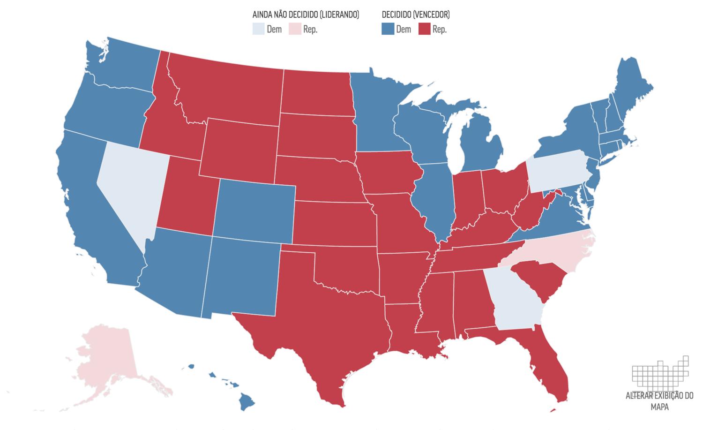 Na reta final da contagem de votos das Eleições nos EUA 2020 que definirão o novo presidente do país, cada Estado possui sua própria legislação eleitoral. Confira como deve ser a recontagem, caso alguma das campanhas solicite na justiça
