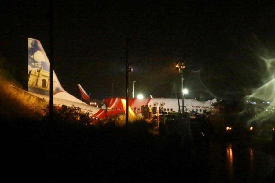 Segundo a imprensa local, o piloto não conseguiu frear e a aeronave caiu em um barranco no fim da pista